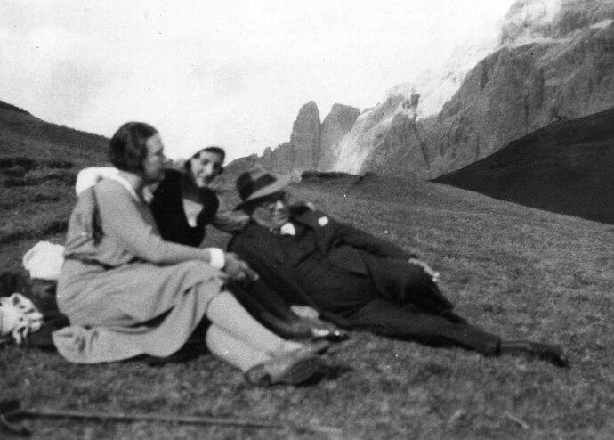 Family in the Dolomites