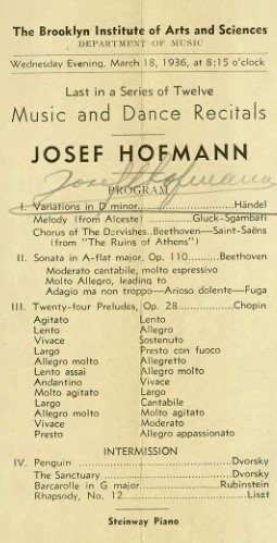 josef hofmann program